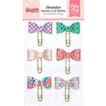 Echo Park - Once Upon A Time Collection - Princess - Decorative Paper Clip Bows