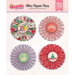 Echo Park - Once Upon A Time Collection - Princess - Mini Paper Fans
