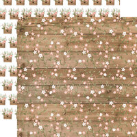 Echo Park - Our Wedding Collection - 12 x 12 Double Sided Paper - Forever Floral