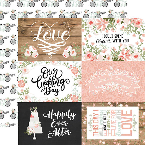 Echo Park - Our Wedding Collection - 12 x 12 Double Sided Paper - 6 x 4 Journaling Cards
