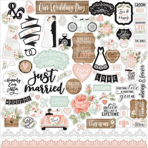 Echo Park - Our Wedding Collection - 12 x 12 Cardstock Stickers - Elements
