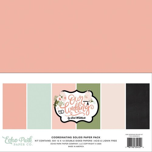 Echo Park - Our Wedding Collection - 12 x 12 Paper Pack - Solids