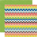 Echo Park - Paper and Glue Collection - 12 x 12 Double Sided Paper - Classy Chevron