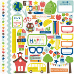 Echo Park - Paper and Glue Collection - 12 x 12 Cardstock Stickers - Elements