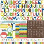 Echo Park - Paper and Glue Collection - 12 x 12 Cardstock Stickers - Alphabet