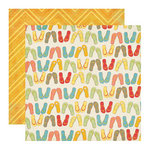 Echo Park - Paradise Beach Collection - 12 x 12 Double Sided Paper - Flip Flops