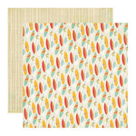 Echo Park - Paradise Beach Collection - 12 x 12 Double Sided Paper - Hang Ten