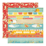 Echo Park - Paradise Beach Collection - 12 x 12 Double Sided Paper - Beach Bum