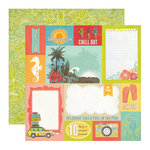 Echo Park - Paradise Beach Collection - 12 x 12 Double Sided Paper - Surf Sand and Sun