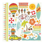 Echo Park - Paradise Beach Collection - 12 x 12 Cardstock Stickers - Elements