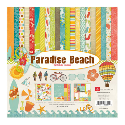 Echo Park - Paradise Beach Collection - 12 x 12 Collection Kit