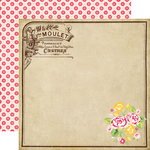 Echo Park - Petticoats and Pinstripes Collection - Girl - 12 x 12 Double Sided Paper - Elegant Labels