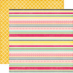 Echo Park - Petticoats and Pinstripes Collection - Girl - 12 x 12 Double Sided Paper - Sassy Stripes