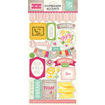 Echo Park - Petticoats and Pinstripes Collection - Girl - Chipboard Stickers