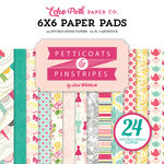 Echo Park - Petticoats and Pinstripes Collection - Girl - 6 x 6 Paper Pad