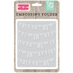 Echo Park - Petticoats and Pinstripes Collection - Girl - Embossing Folder - Curved Pennant