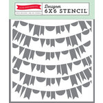 Echo Park - Petticoats and Pinstripes Collection - Girl - 6 x 6 Stencil - Banners 2