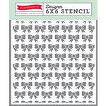 Echo Park - Petticoats and Pinstripes Collection - Girl - 6 x 6 Stencil - Bows