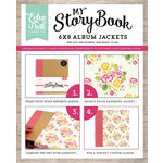 Echo Park - Petticoats and Pinstripes Collection - Girl - My StoryBook - 6 x 8 Album Jacket - Floral