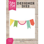 Echo Park - Petticoats and Pinstripes Collection - Girl - Designer Dies - Pennants