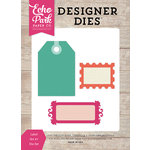 Echo Park - Petticoats and Pinstripes Collection - Girl - Designer Dies - Label Set 7