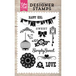 Echo Park - Petticoats and Pinstripes Collection - Girl - Clear Acrylic Stamps - Simply Sweet