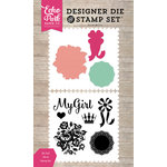 Echo Park - Petticoats and Pinstripes Collection - Girl - Designer Die and Clear Acrylic Stamp Set - My Girl
