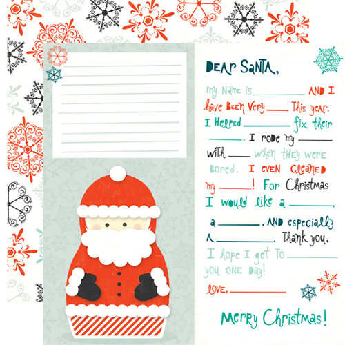 Echo Park - Dear Santa Collection - Christmas - 12 x 12 Double Sided Paper - Dear Santa