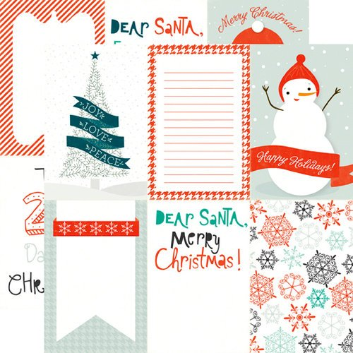 Echo Park - Dear Santa Collection - Christmas - 12 x 12 Double Sided Paper - Happy Holiday