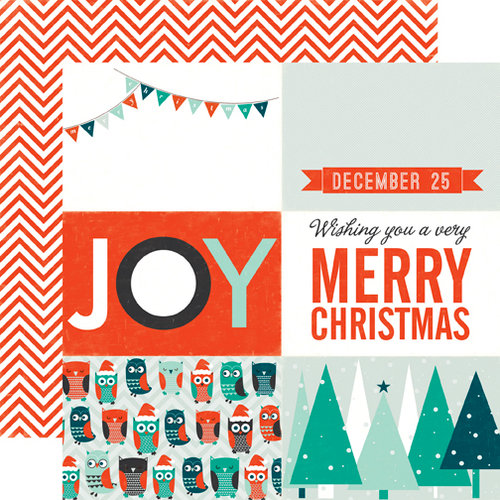 Echo Park - Dear Santa Collection - Christmas - 12 x 12 Double Sided Paper - Joy