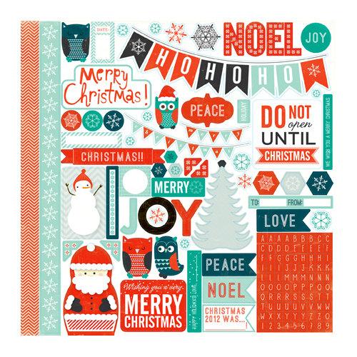 Echo Park - Dear Santa Collection - Christmas - 12 x 12 Cardstock Stickers - Elements