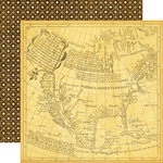 Echo Park - Graphic 45 - Transatlantique Collection - 12 x 12 Double Sided Paper - Abroad