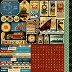 Echo Park - Graphic 45 - Transatlantique Collection - 12 x 12 Cardstock Stickers - Elements