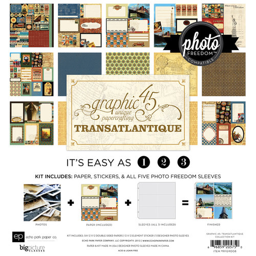 Echo Park - Graphic 45 - Transatlantique Collection - 12 x 12 Collection Kit