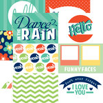 Echo Park - Happy Go Lucky Collection - 12 x 12 Double Sided Paper - Hello