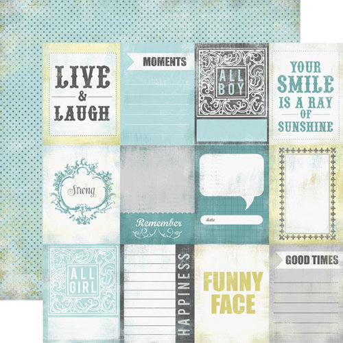 Echo Park - Happy Little Moments Collection - 12 x 12 Double Sided Paper - Moments