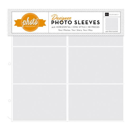 Echo Park - Photo Freedom - 12 x 12 Designer Photo Sleeves - 4 x 6 Horizontal Pockets - 10 Pack