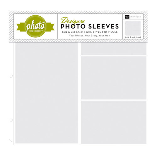 Echo Park - Photo Freedom - 12 x 12 Designer Photo Sleeves - 6 x 12 and 4 x 6 Pockets - 10 Pack