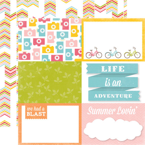 Echo Park - Fun in the Sun Collection - 12 x 12 Double Sided Paper - Neighborhood