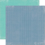 Echo Park - Photo Freedom Volume 1 Collection - 12 x 12 Double Sided Paper - Navy Chevron
