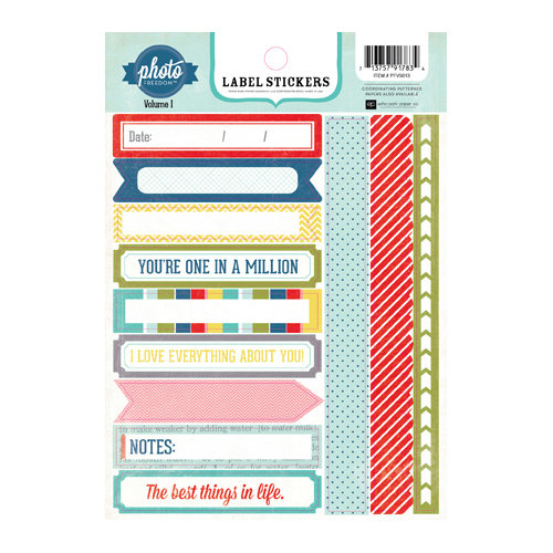 Echo Park - Photo Freedom Volume 1 Collection - Cardstock Stickers - Labels