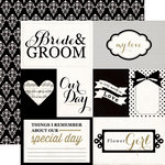 Echo Park - You and Me Collection - 12 x 12 Double Sided Paper - Bride and Groom
