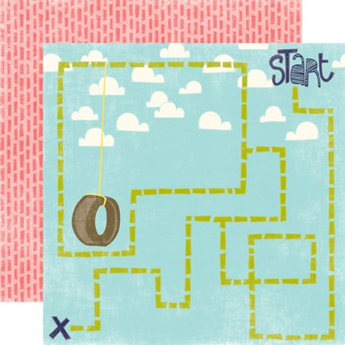 Echo Park - Playground Collection - 12 x 12 Double Sided Paper - Hide and Seek