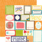 Echo Park - Playground Collection - 12 x 12 Double Sided Paper - Tag Journaling Cards