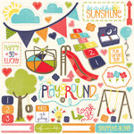 Echo Park - Playground Collection - 12 x 12 Cardstock Stickers - Elements