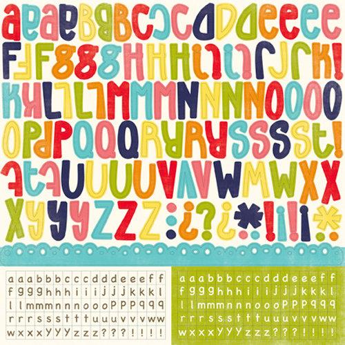 Echo Park - Playground Collection - 12 x 12 Cardstock Stickers - Alphabet