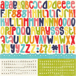 Echo Park - Playground Collection - 12 x 12 Cardstock Stickers - Alphabet