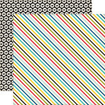 Echo Park - Pirates Life Collection - 12 x 12 Double Sided Paper - Pirate Stripes