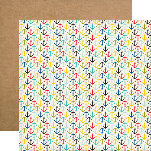 Echo Park - Pirates Life Collection - 12 x 12 Double Sided Paper - Anchors Away