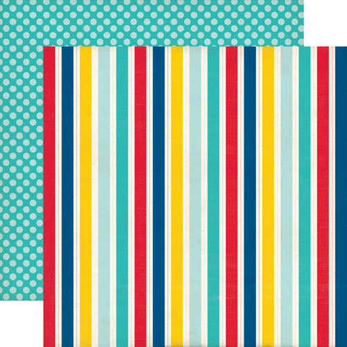 Echo Park - Pirates Life Collection - 12 x 12 Double Sided Paper - Captain Stripes